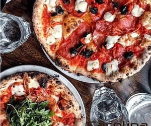 food, foodie, and pizza image