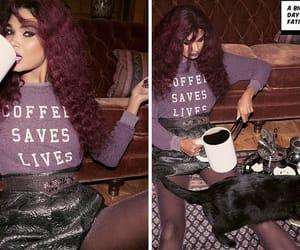 coffee, fox, and fashion image