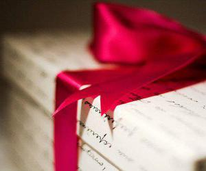 gift, present, and red image