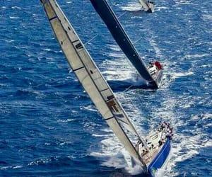 barco, mar, and regata image