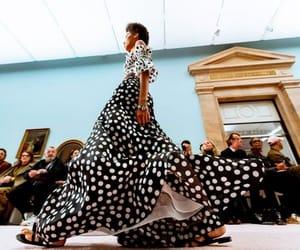 Carolina Herrera, catwalk, and polka image