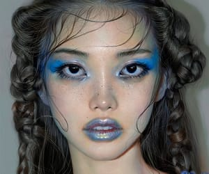 blue, art, and makeup image