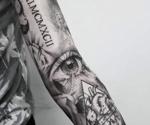 art, ink, and tattoo image