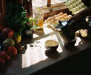 drinks, eggs, and tea image