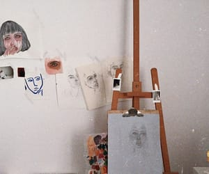 art, canvas, and painting image
