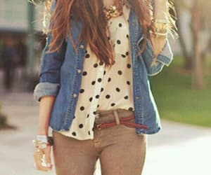 fashion, sunny day, and sweet image