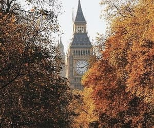 autumn, Big Ben, and london image