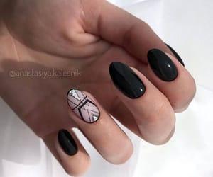 black, nails, and nails art image