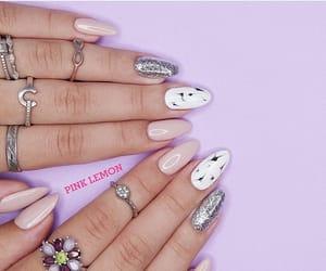 nails, rings, and silver nails image