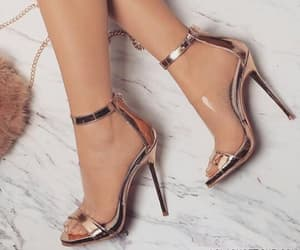 gold, high heels, and luxury image