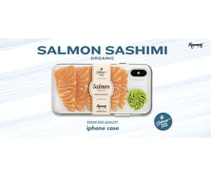 iphone, iphone casing, and salmon image