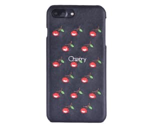 cherry, embroidery, and fruity image