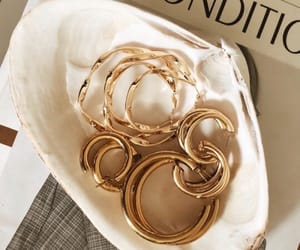 fashion, earrings, and gold image