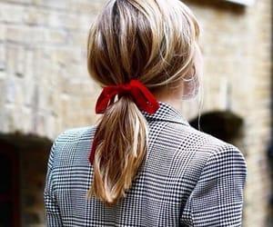 hair, red, and ribbon image