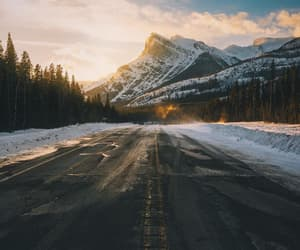 mountains, snow, and cold image