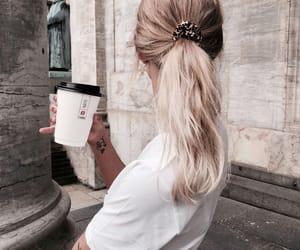 fashion, hair, and coffee image