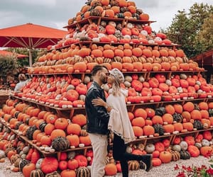 autumn, couple, and fashion image