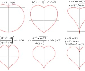 math, heart, and love image