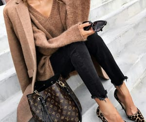 fashion, coat, and Louis Vuitton image