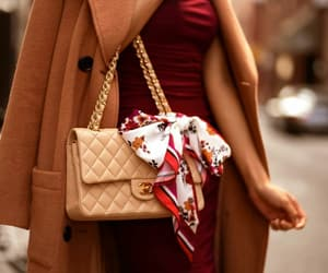 burgundy, chanel, and chic image