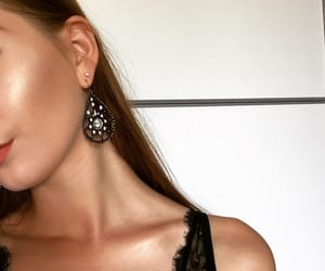 earrings, lace, and summer image