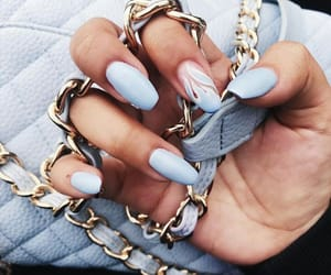 baby blue, fashion, and makeup image