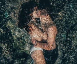 art, water, and love image
