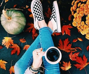 autumn, coffee, and shoes image