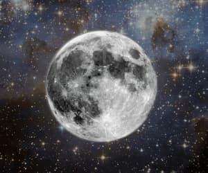 cielo, luna, and Noche image