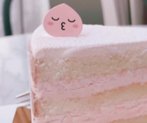 cake, pink, and dessert image