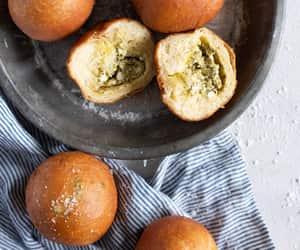 bread, brioche, and pesto image