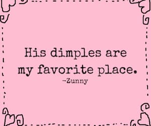 dimples, phrases, and pink image