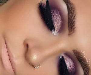 black, eyeliner, and eyeshadow image