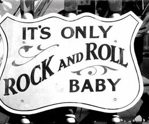rock and roll, rock, and black and white image