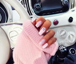 pink, nails, and fashion image