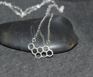 sterling silver, love necklace, and delicate necklace image