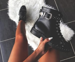 beautiful, black, and boots image