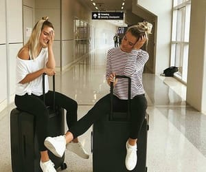 besties, traveling, and bff image