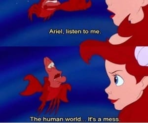ariel, disney, and mess image