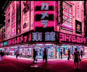 pink, neon, and japan image