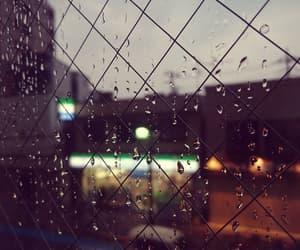 city, evening, and rain image