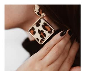 animal print, earrings, and FW image