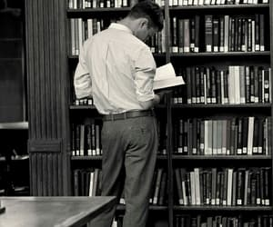 book, library, and boy image