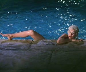 Marilyn Monroe, pool, and vintage image