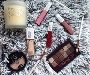 candle, makeup, and Maybelline image