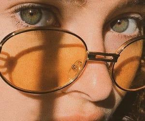 eyes, aesthetic, and yellow image