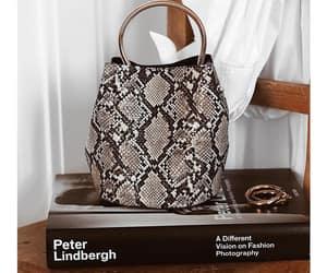 animal print, bag, and snakeskin image