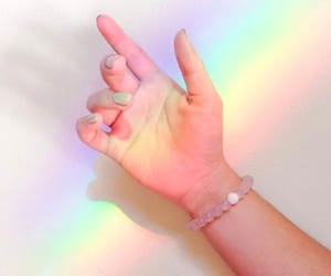 rainbow, pastel, and aesthetic image