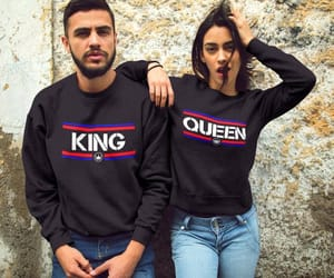 etsy, king and queen, and couple hoodies image