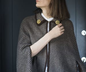 etsy, wool cape coat, and houndstooth coat image